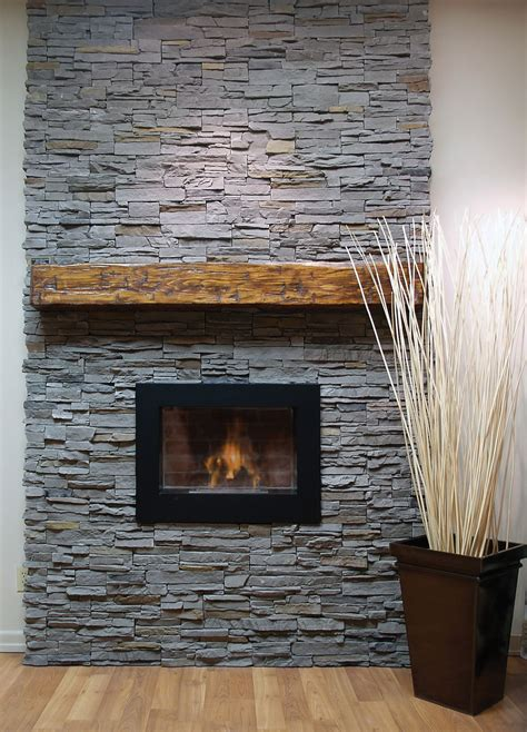 DIY Fireplace Mantels With Slate Accents In French