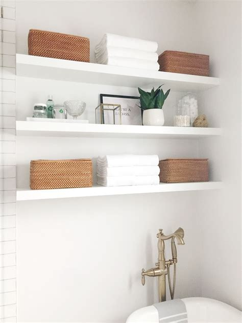 DIY Floating Bathroom Shelves Plans