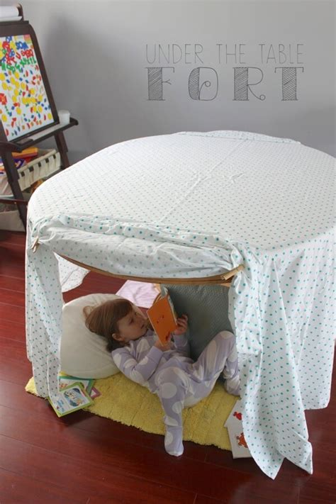 DIY Fort With Table