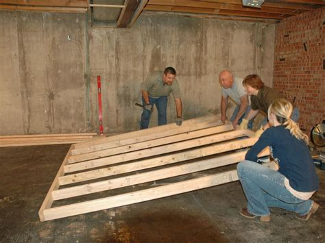 DIY Framing Basement Floor And Walls