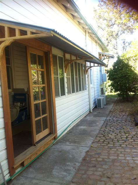 DIY French Door Awning