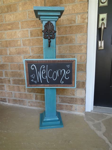 DIY Front Door Sign Post