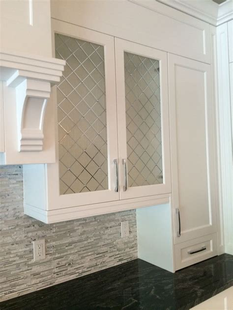 DIY Frosted Glass Kitchen Cabinets