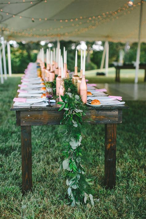 DIY Garland For Wedding Reception Tables