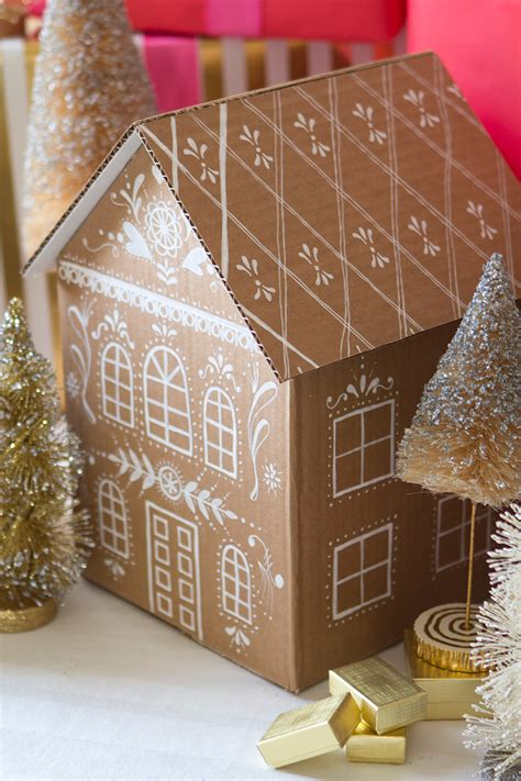 DIY Gingerbread House Gift Box