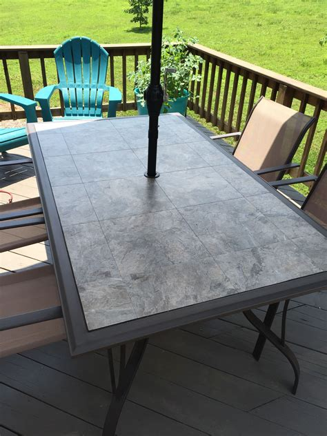 DIY Glass Top Picnic Tables