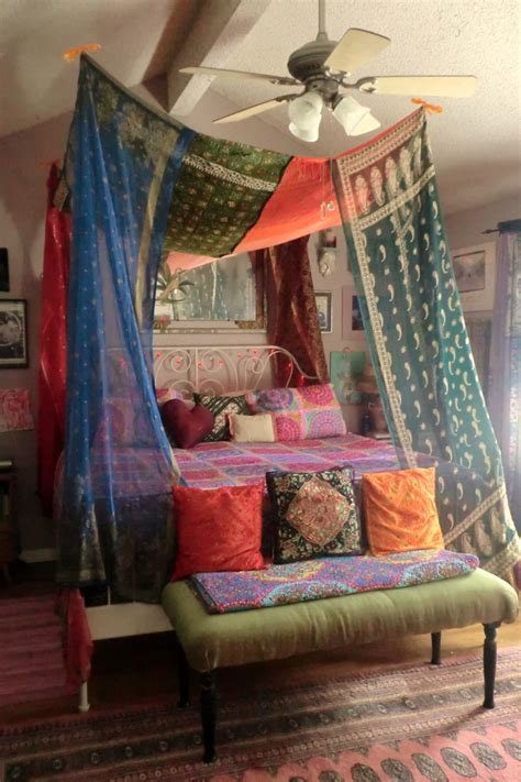 DIY Gypsy Bed Canopy