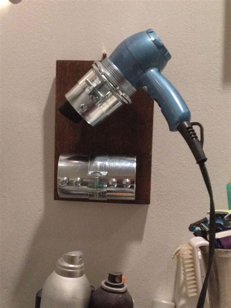DIY Hair Dryer Stand