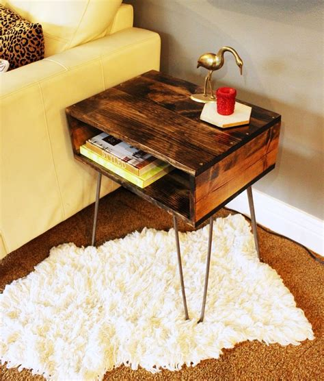 DIY Hairpin Side Table
