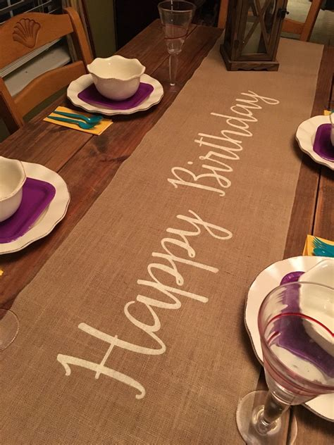 DIY Happy Birthday Table Runner
