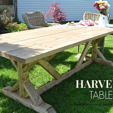 DIY Harvest Table Bench