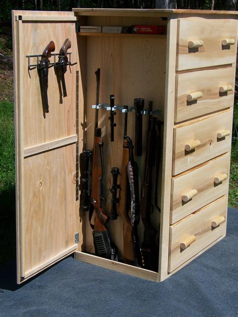DIY Hidden Gun Storage Furniture
