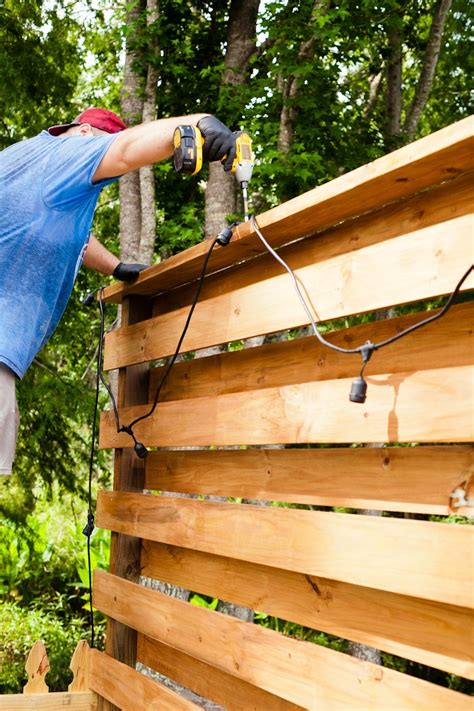 DIY Horizontal Wood Fence Panels Pine