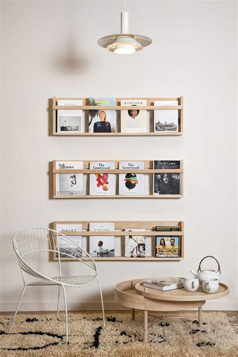 DIY In Wall Magazine Rack