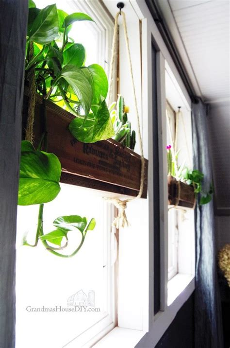 DIY Interior Hanging Window Boxes