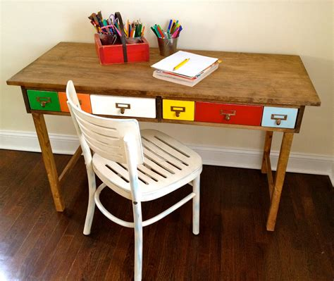 DIY Kid Desk From Drawers