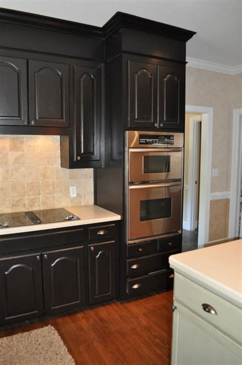 DIY Kitchen Ebony Cabinets