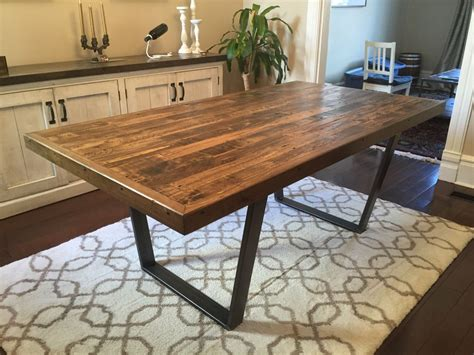 DIY Kitchen Table Reclaimed Wood