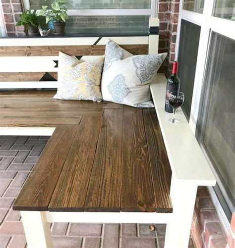 DIY L Shaped Bench