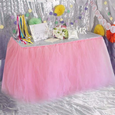 DIY Lace Table Skirt