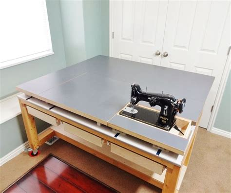 DIY Large Sewing Table