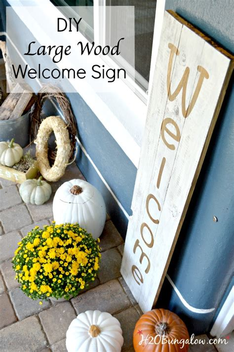 DIY Large Wood Welcome Sign