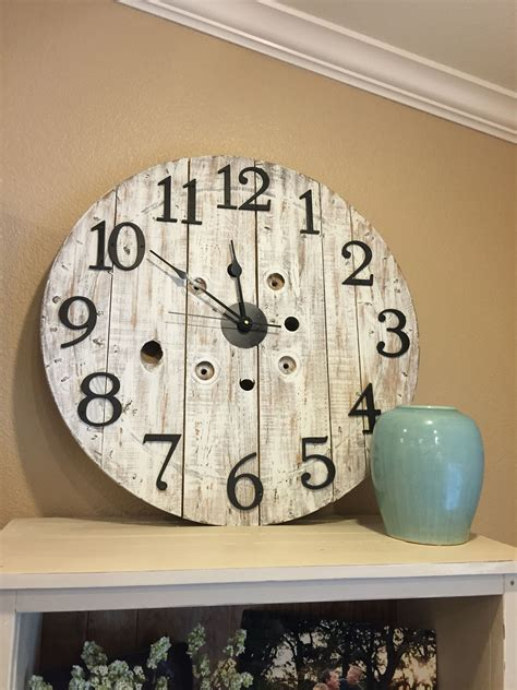 DIY Large Wooden Spool Clocks