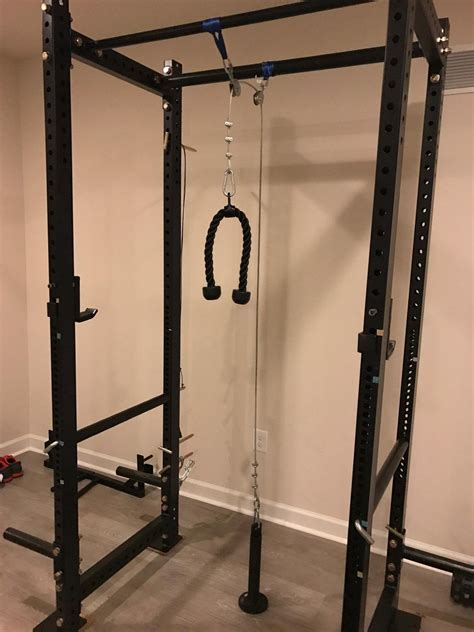 DIY Lat Pulldown Cable On Rack