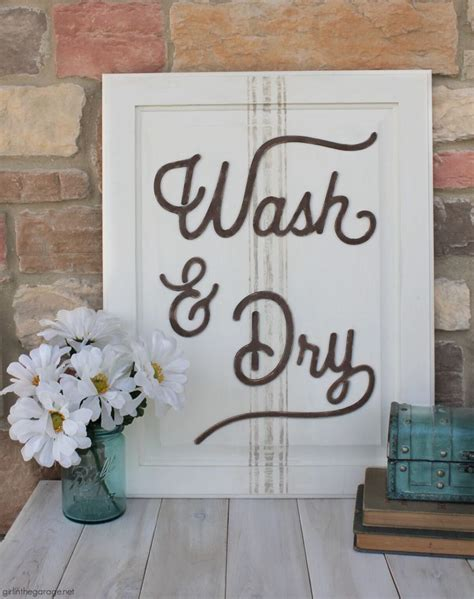 DIY Laundry Room Door Sign