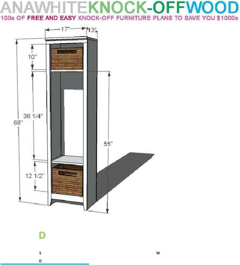 DIY Little Wood Locker Plans
