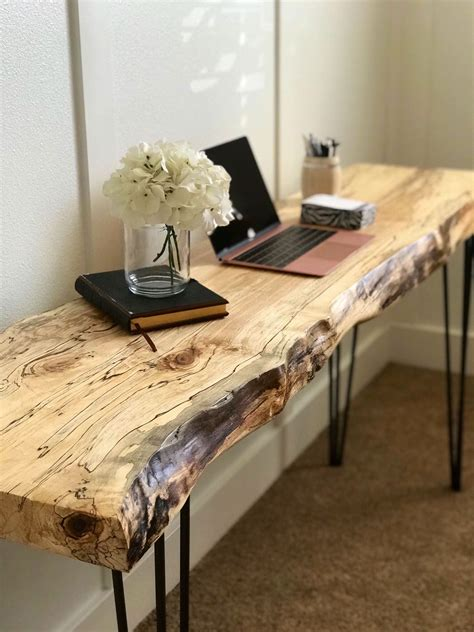 DIY Live Edge Desk