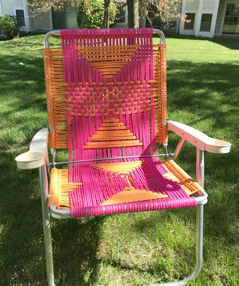 DIY Macrame Lawn Chairs