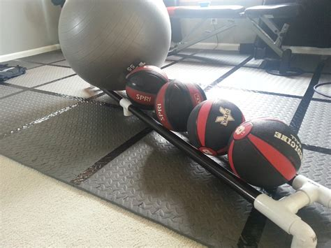 DIY Med Ball Rack Plans