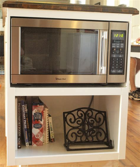 DIY Microwave Box Under Cabinet