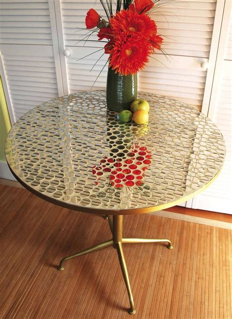 DIY Mirror Mosaic Table Top