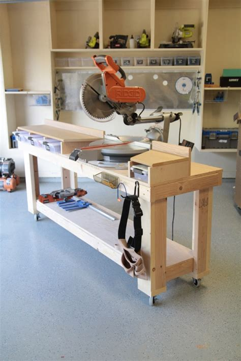 DIY Miter Saw Table Stand Plans