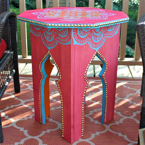 DIY Moroccan Side Table
