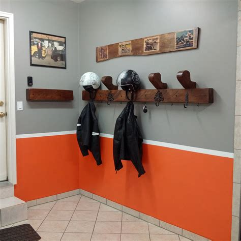 DIY Motorcycle Helmet Rack