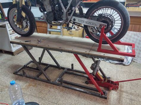 DIY Motorcycle Table Lift
