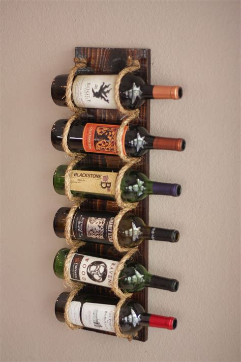 DIY Mounted Wine Rack