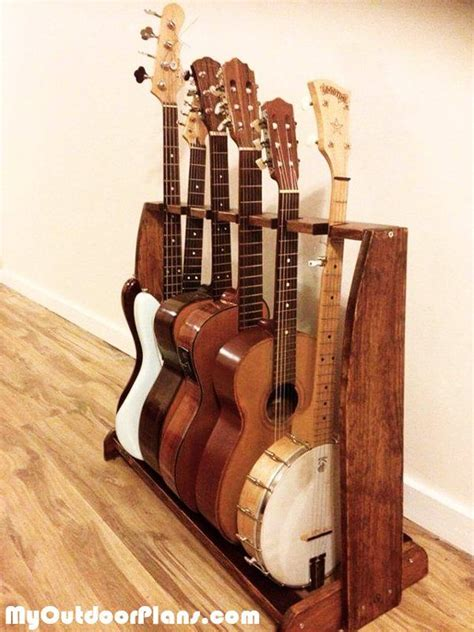 DIY Multi Guitar Stand Wood