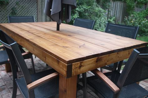 DIY Outdoor Harvest Table