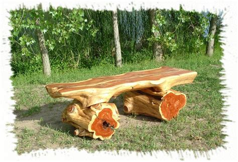 DIY Outdoor Log Furniture