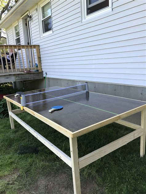 DIY Outdoor Ping Pong Table