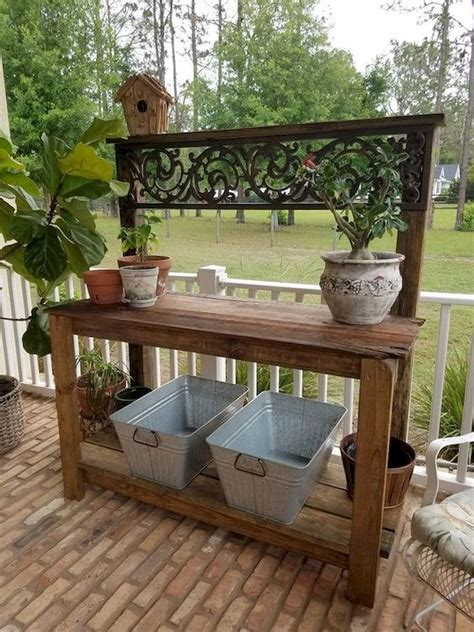 DIY Outdoor Planting Table