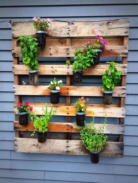 DIY Outdoor Wall Planter Reclaimed Wood