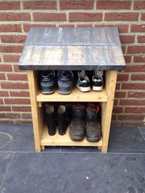 DIY Outside Shoe Rack