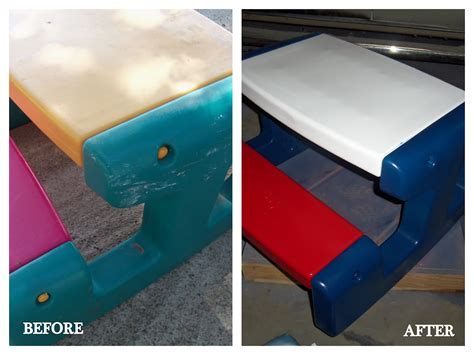 DIY Paint Plastic Outdoor Table