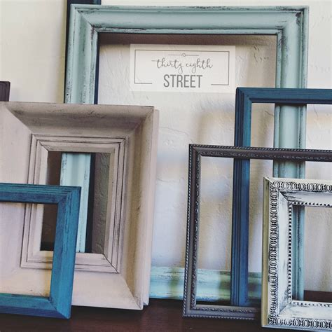 DIY Painted Photo Frames