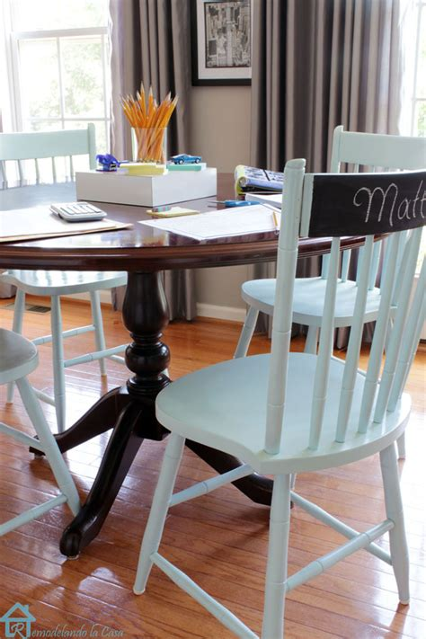 DIY Painting Kitchen Chairs